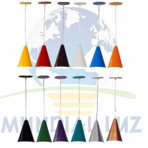 Pendentes Cone Em Alumínio (varias cores)