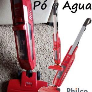 Aspirador de Pó e Água Portátil e Vertical Philco – Filtro HEPA 1250W PAS3200 Vermelho – 110V/220V