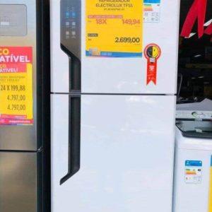 Geladeira/Refrigerador Electrolux Automático – Duplex Branca 431L Top Freezer Frost Free – 110V/220V