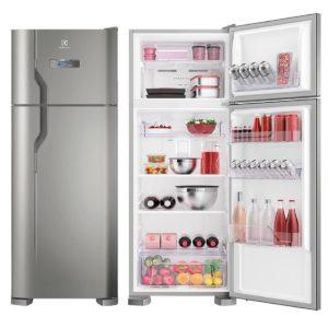 Geladeira/Refrigerador Frost Free cor Inox 310L Electrolux