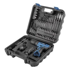 Parafusadeira e Furadeira com Impacto Philco Force 12V e Bateria de Lítio + maleta 51 acessórios – Bivolt