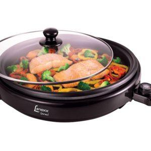 Grill Lenoxx Gourmet 1500W – 40 cm de diâmetro, 5 níveis de temperatura e superfície antiaderente – 110V/220V