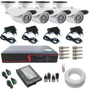 Kit Monitoramento 4 Câmeras Digitais AHD Infravermelho DVR 4 Canais – Acesso via Celular