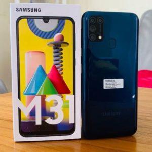 "Smartphone Samsung Galaxy M31 128GB 4G – 6GB RAM Tela 6,4"" Câm. Quádrupla 64MP + Selfie 32MP"
