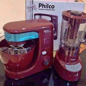 Kit Premium Wine Batedeira Planetária Philco 500W + Liquidificador Philco Touch 900W