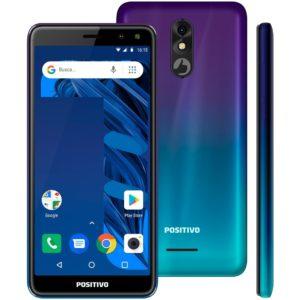 "Smartphone Positivo Twist 3 Pro 64GB Aurora – 1GB RAM Tela 5,7"" Câm. 8MP Câm. Selfie 8MP"