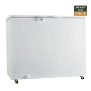 #cupom→( FRIO15 ) Freezer Horizontal Uma Porta Cycle Defrost 305L (H300)