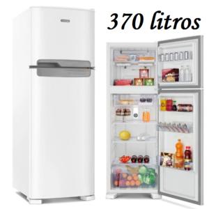 Geladeira/Refrigerador Continental Frost Free – Duplex Branca 370L – 110V/220V – dispenser de gelo e controle de temperatura
