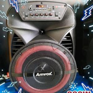 Caixa de Som Amvox ACA 280 Black Bluetooth – Amplificada 280W USB