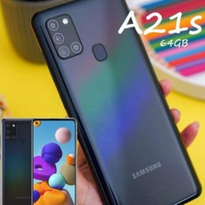 "Smartphone Samsung Galaxy A21s 64GB Preto 4G – 3GB RAM 6,5"" Câm. Quádrupla + Selfie 13MP"