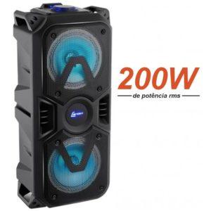 Caixa de Som Bluetooth Lenoxx Portátil – Amplificada 200W USB