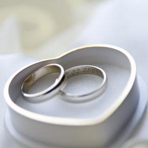 Alianças 4,0 mm de Prata Namoro Compromisso