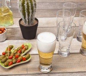 Jogo de Copos de Vidro para Cerveja 200ml – 6 Peças SM Lager