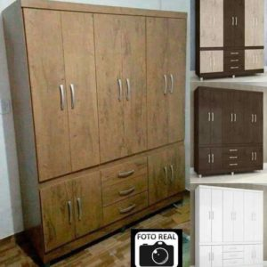 Guarda-roupa Casal 10 Portas 3 Gavetas Araplac – Diversas cores