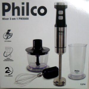 Mixer, 3 em 1 , 600W, Preto, Philco