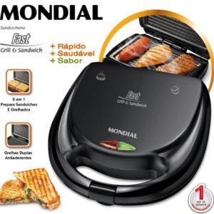 Sanduicheira Fast Grill E Sandwich 220v – Mondial