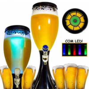 Torre Chopp Cerveja sempre gelada Resfriador Iluminado com Led