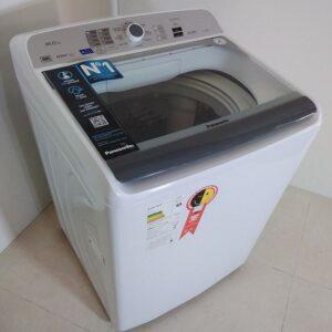 Lavadora de Roupas Panasonic 16Kg Cesto Inox 9 Pro...