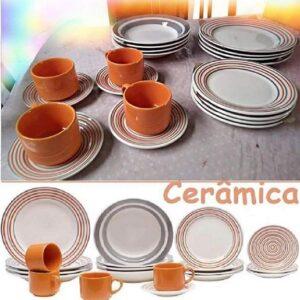 Aparelho de Jantar Chá Biona Cerâmica Redondo &#...