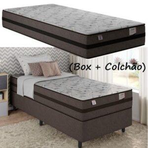 Cama Box Solteiro (Box + Colchão) Plumatex Mola 25cm Prime