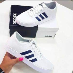 Tênis Adidas Easy Vulc 20 Masculino – Branco e Azul
