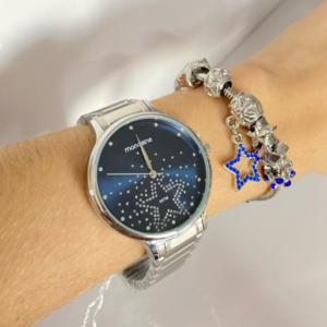 Relógio Feminino Mondaine Analógico Prata com Ac...