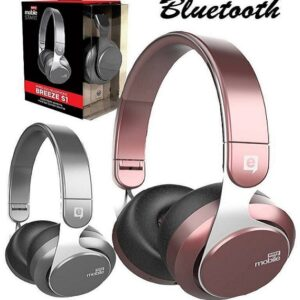 Headphone/Fone de Ouvido Easy Mobile Bluetooth – com Microfone Breeze S1 – Prata / Rosa / Preto