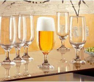 Conjunto de Taças de Vidro para Cerveja 6 Peças – 300ml Nadir Floripa