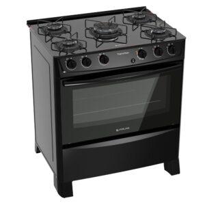 Fogão 5 Bocas Atlas Preto – Acendimento Automático Tropical Glass – forno com 86,5L