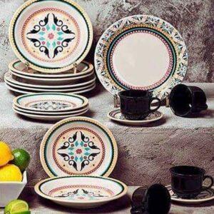 Aparelho De Jantar e Chá Floreal Luiza Oxford &#8...
