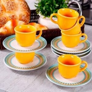 Jogo de Xícaras para Café Floreal Daily Bilro &#...