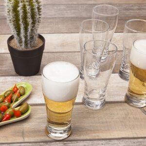 Jogo de Copos de Vidro para Cerveja 220ml Nadir Fr...