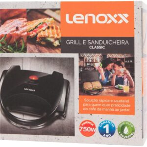 Sanduicheira/Grill Lenoxx Cozinha Classic – 750W Antiaderente