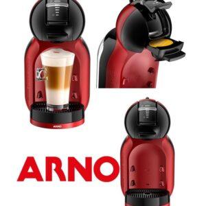Cafeteira Expresso Arno Dolce Gusto Mini Me Preta e Vermelha