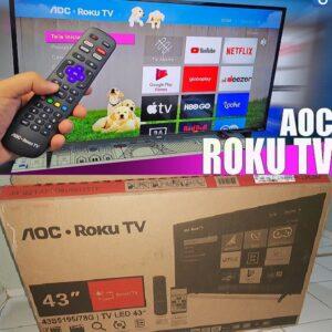 Smart TV AOC Roku TV LED 43″ Wi-fi, Milhares...