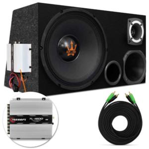 Caixa Trio Completa 790W Woofer Magnum Rex Power 12″ + Driver + Tweeter + Corneta + Módulo Taramps