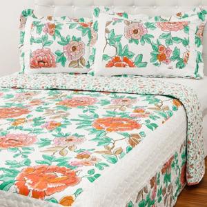 Colcha King Boutis Rosa com 2 Porta Travesseiros – Casa & Conforto