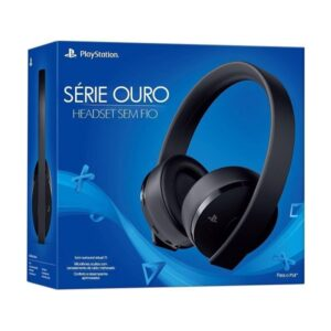 Headset Gamer Sony – Série Ouro PS4 e PS4 VR som Surround virtual 7.1 Bluetooth