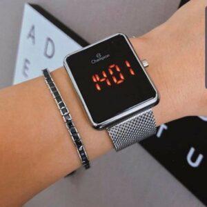 Relógio Feminino Champion Digital Prateada