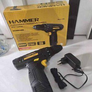 """Furadeira e Parafusadeira a Bateria Hammer 12V Velocidade Variável e Reversível 3/8"""" – Bivolt"""
