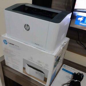 Impressora HP Laser 107W Preto e Branco Wi-Fi – USB