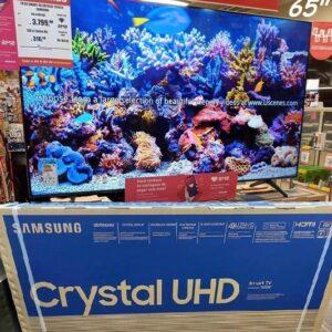 "Smart TV Crystal UHD 4K LED 65"" Samsung 65TU8000 Wi-Fi Bluetooth HDR 3 HDMI 2 USB"