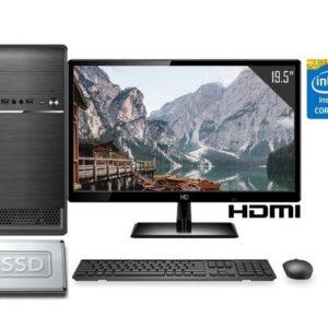 Computador Completo Intel Core i5 8GB SSD 240GB Monitor LED 19.5″ HDMI CorPC Fast