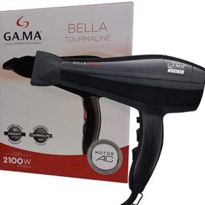 Secador de Cabelo GAMA Bella Tourmaline – Preto com Íons 2100W 2 Velocidades – 110v/220v