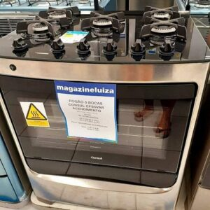 Fogão 5 Bocas Consul Inox Acendimento Automático Forno 96 Litros – Bivolt