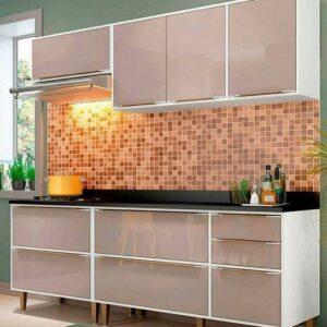 Cozinha Compacta Multimóveis New Paris com Balcão 8 Portas 3 Gavetas