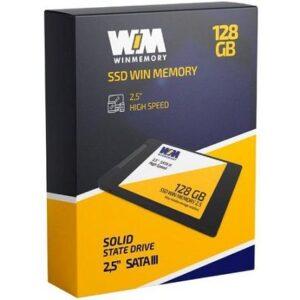 "SSD 128GB WIN MEMORY SATA 2,5"" Leitura 560MB/s – Gravação 540MB/s SWR128G"