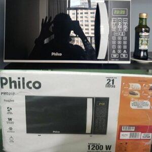 Micro-ondas Philco Preto 21 Litros Receitas Pré-programadas – 110v/220v