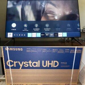 Smart TV LED 58″ 4K Samsung Crystal UHD, HDR, Design Sem Limites HDMI USB Bluetooth – 2020