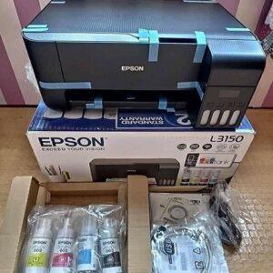 Impressora Multifuncional Epson EcoTank L3150 – Tanque de Tinta Wi-Fi Colorida USB – Bivolt